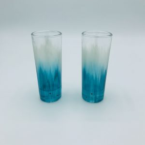 Teal shot glasses