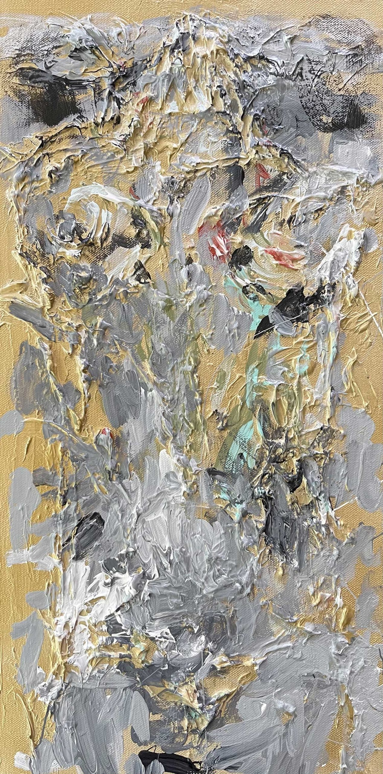 head - abstract painting - dace Kidd