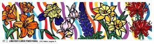 Dace Kidd, Mural, Flower Power, Longview, Texas, Print
