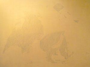 Dace Kidd painting gold toro bull fight fighting