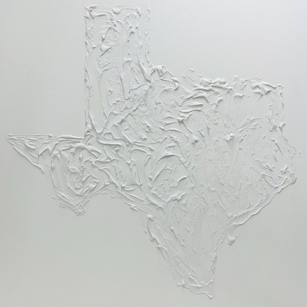 Dace Kidd Painting Texas Map White